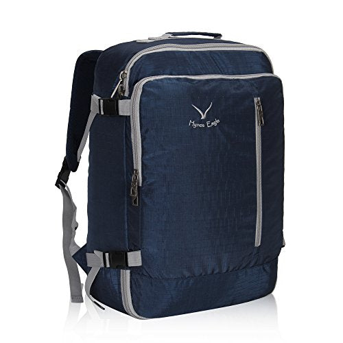 Hynes Eagle 38L Flight Approved Weekender Carry on Backpack Blue