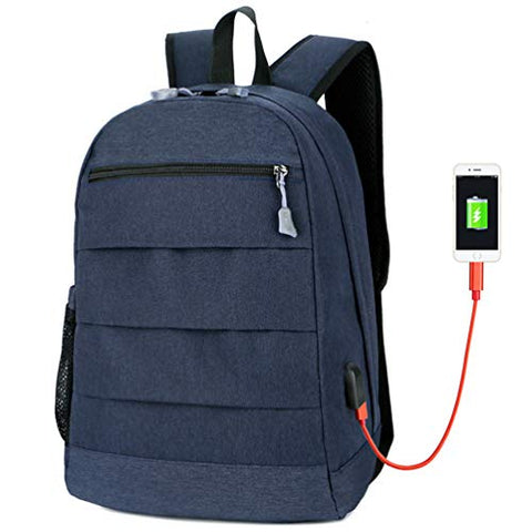 Laptop Usb Charging 15.6 Backpacks Men Slim Waterproof School Backpack Bag Women Travel