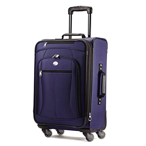 "American Tourister Luggage Pop Extra 21"" Carry On Spinner Suitcase (21"", Navy)"