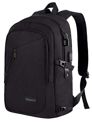 Anti Theft Business Laptop Backpack with USB Charging Port Fits 15.6 inch Laptop, Slim Travel