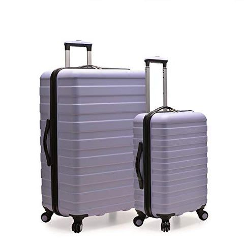 Travelers Choice Cypress Colorful 2-Piece Small and Large Hardside Spinner Luggage Set, Lavender