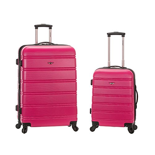Rockland Luggage 20 Inch and 28 Inch 2 Piece Expandable Spinner Set, Magenta