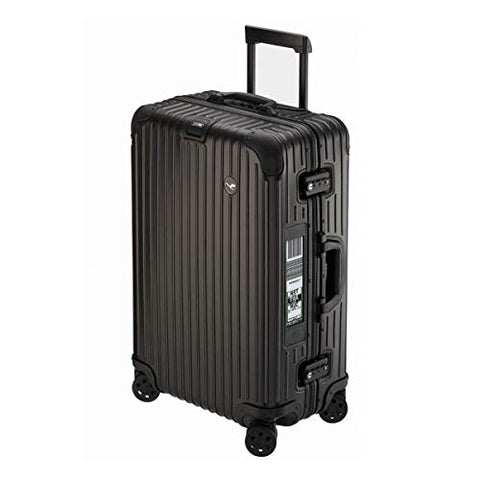 RIMOWA Lufthansa Alu Premium Collection suitcase 63.5L Electronic Tag, Black