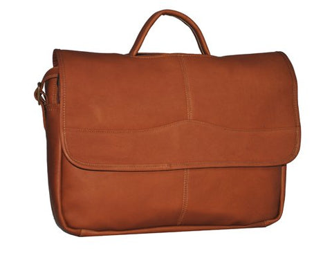 David King & Co. Porthole Briefcase Simple, Tan, One Size