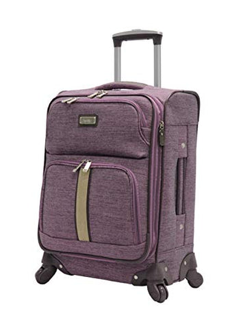 "Nicole Miller Cameron Collection 20"" Expandable Luggage Spinner (20in, Cameron Lavender)"