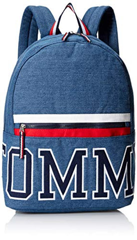 Tommy Hilfiger Women's Backpack Patriot Colorblock Canvas, Indigo