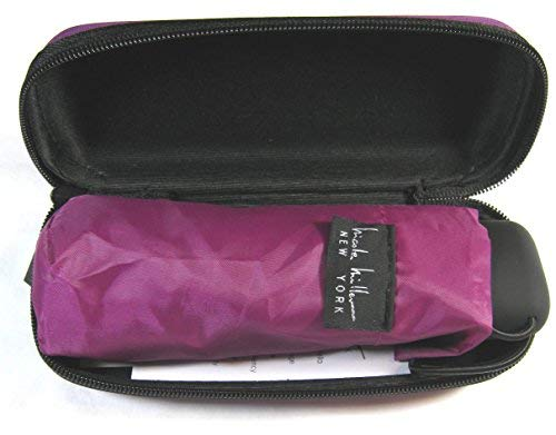 Nicole Miller Micro Mini Umbrella with Hard Eyeglass Carrying Case Mauve