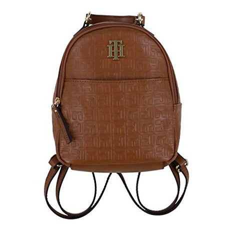 Tommy Hilfiger Embossed Mini Backpack (Brown)