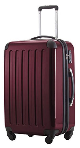 HAUPTSTADTKOFFER - Alex - Luggage Suitcase Hardside Spinner Trolley Expandable 24¡° TSA Burgundy