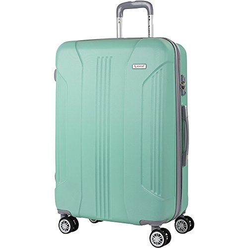 "Amka Sierra 30"" Expandable Hardside Checked Spinner Luggage (Mint)"