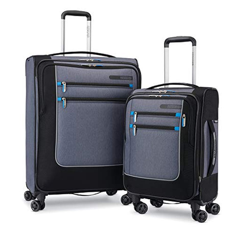 American Tourister Istack Travel System Softside 2-Piece Set (19/25) With Double Air Flow Spinner