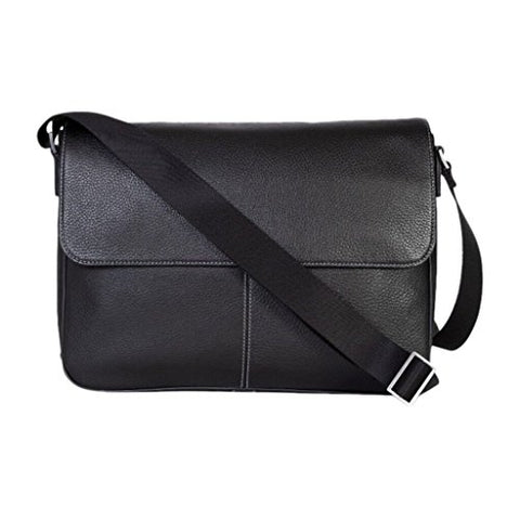 Boconi Tyler Folio Messenger (Black with Khaki)