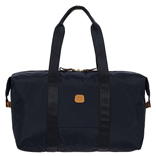 Bric's X x-Travel 2.0 18 inch Cargo Overnight Folding Duffle Duffel Bag, Navy, One Size