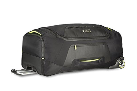 High Sierra At8 Wheeled Duffel Bag, Black/Zest, 34""