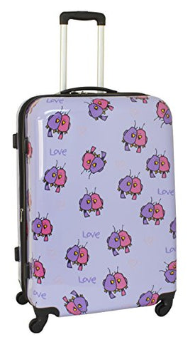 Ed Heck Multi Love Birds Hardside Spinner Luggage 28 Inch, Light Purple, One Size