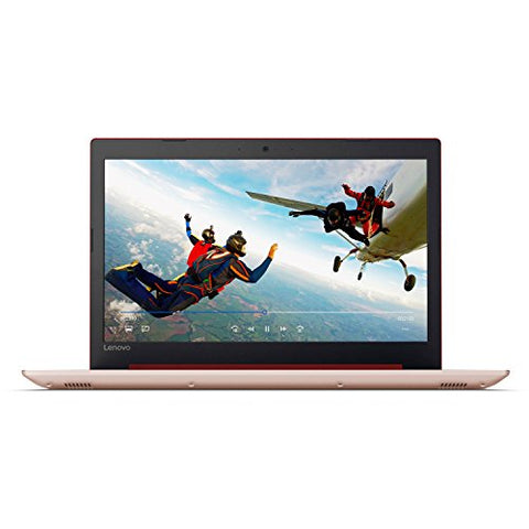 "2018 Lenovo ideapad 320 15.6"" Laptop, Windows 10, Intel Celeron N3350 Dual-Core Processor up to 2.4GHz, 4GB RAM, 1TB Hard Drive, DVD-RW, WIFI, Bluetooth, Webcam (Coral Red)"
