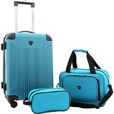 Travelers Club Luggage Chicago Plus 3Pc Expandable Luggage Value Set, Teal