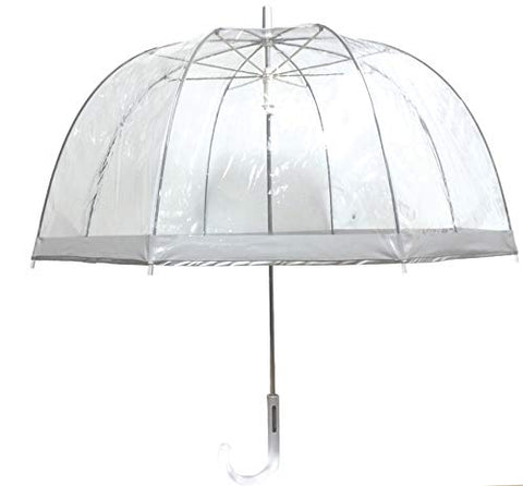 London Fog Clear Umbrella, Silver