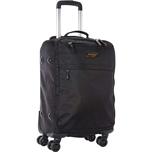 "A.Saks 22"" Expandable Lightweight Spinner Carry-On Luggage in Black"