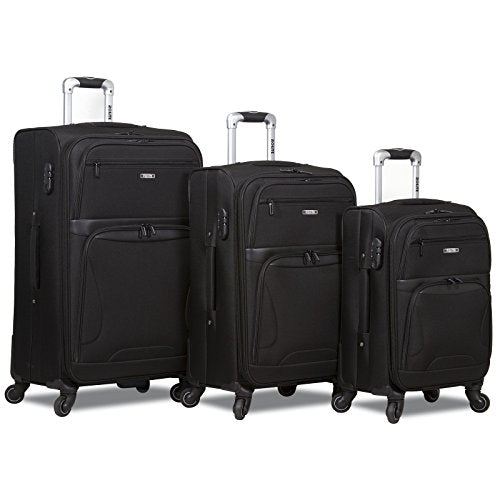 Rolite Explorer 3-Piece Expandable Spinner Luggage Set-Black