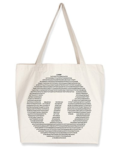 Cognitive Surplus Math Symbol Pi, 3.14 Tote Bag. (10 oz Recycled Cotton)