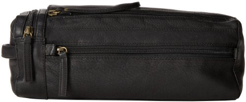 Derek Alexander Twin Top Zip Shave Kit, Black, One Size