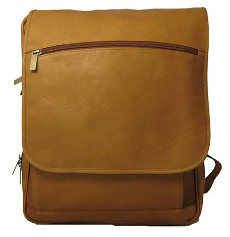 David King & Co. Large Computer Flapover Backpack, Tan, One Size