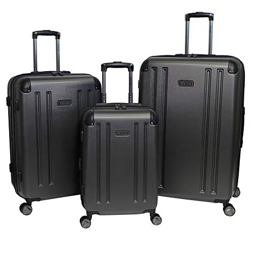 Kenneth Cole Reaction Hardside 3-Piece Expandable Spinner Luggage Set - Pewter