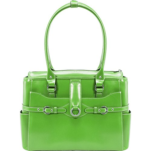 McKleinUSA WILLOW SPRINGS 96561 Green Leather Ladies' Briefcase