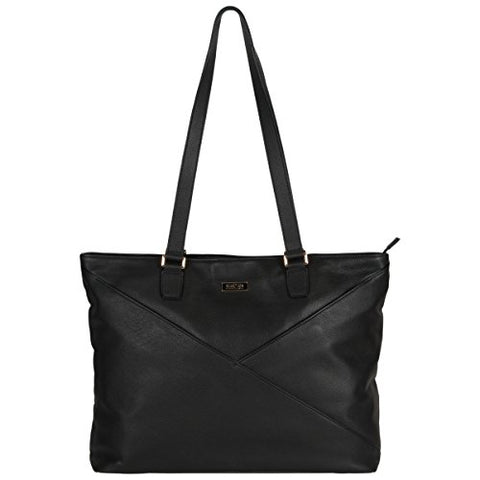 "Kenneth Cole Reaction Leather Women's Top Zip 15"" Computer Business Tote (RFID) Laptop, Black, One Size"