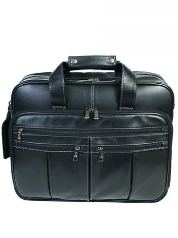 Hidesign By Scully Private Stock Laptop Briefcase,Plonge Black,One Size