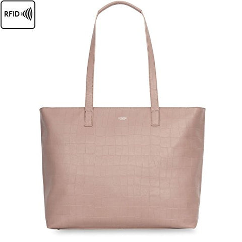 Knomo London Mayfair Luxe Maddox Tote (Nude Croc)