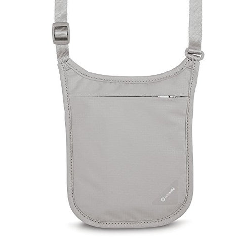 Pacsafe Coversafe V75 Anti-Theft Rfid Blocking Neck Pouch, Neutral Grey
