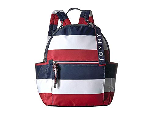 Tommy Hilfiger Women's Lani Backpack Corporate Stripe Navy/Natural One Size