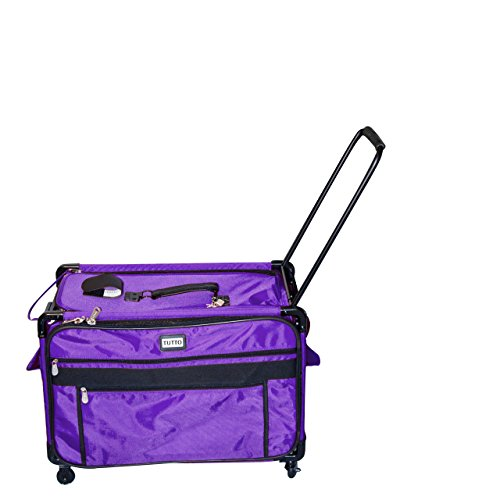 Tutto 9228PMA 2XL PURPLE Machine on Wheels Case, Purple