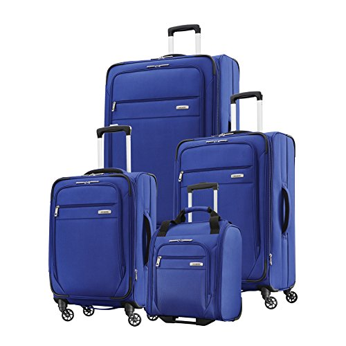 "Samsonite Advena 4-Piece Set (Underseater, 20"", 25"", 29"" Spinners) (Cobalt Blue)"