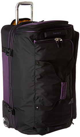 Travelpro Tpro Bold 2.0 30 Inch Drop Bottom Rolling Duffel, Black/Purple, One Size