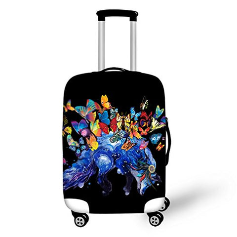 Travel Suitcase Protector Personalized Design Print Cover Fit 18-32 Inch Luggage
