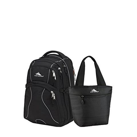 High Sierra Swerve Backpack & Lunch Tote Set (Black)