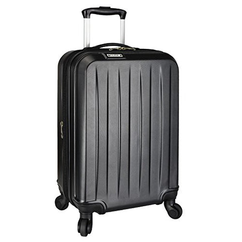 Elite Luggage Spinner Carry-On Luggage, Black