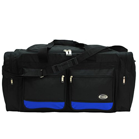 30-Inch Two-Tone Sports Duffel Bag/Travel Duffel/ In 3 Colors (Black/Blue)