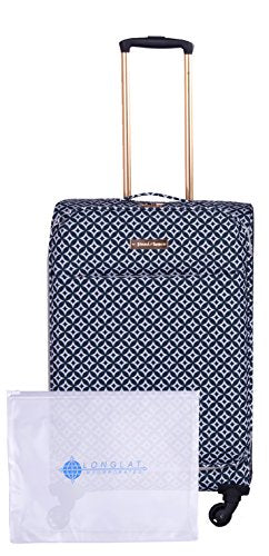 "Jenni Chan Colima 2-Piece Set 28"" Upright Spinner + 311 Bag, Black/White"