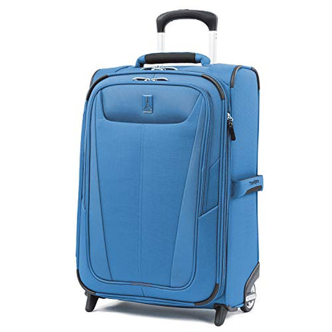 "Travelpro Luggage Maxlite 5 22"" Lightweight Expandable Carry-On Rollaboard Suitcase, Azure Blue"