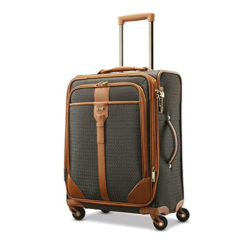"Hartmann Luxe 20"" Carry On Exp Spinner Luggage Terracotta Jacquard"