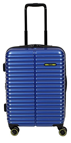 "Revo Pipeline Expandable Hardside Spinner, 20"", Chrome Blue"