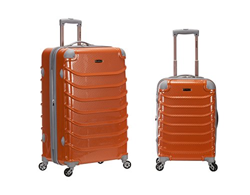 Rockland Speciale 2 Pc Polycarbonate Abs Upright Set, Orange Fiber, One Size