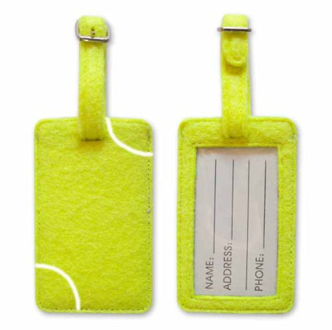 Tennis Themed Luggage Tag - Bag Tag