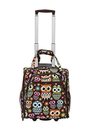 Rockland Melrose Wheeled Underseat Carry-On, Owl