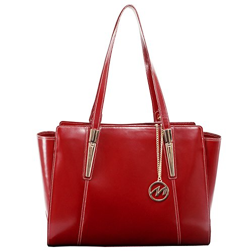 "McKleinUSA 97506 Women's Business Tote, Leather, 16""x6""x12.75"", Red"