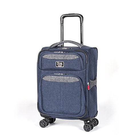 "Sammy'S Soft Goods Co. Saint Dominique Expandable 20"" Suitcase, Navy/Grey"